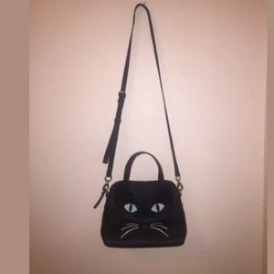 NWOT Kate Spade Mini maise black cat meow purse